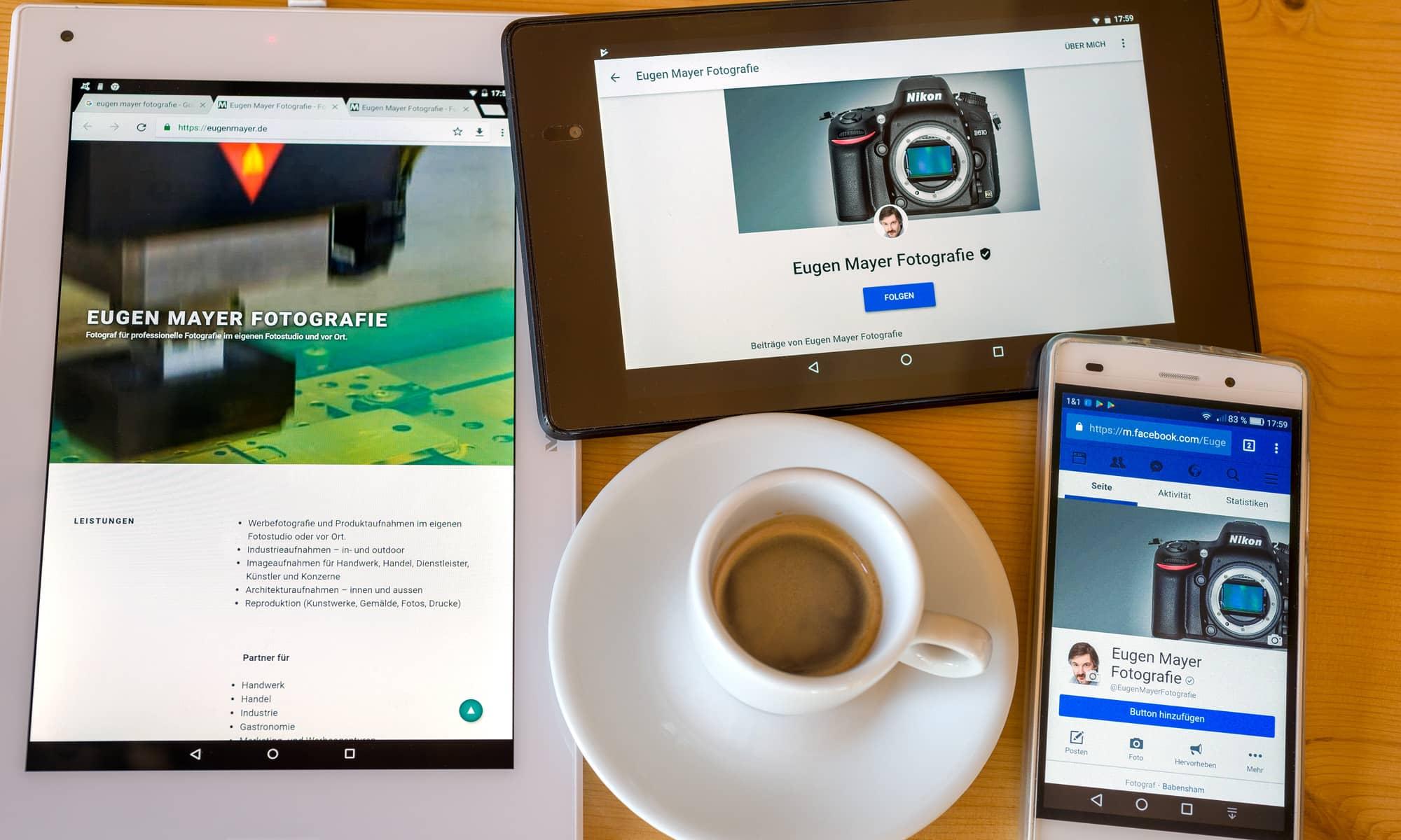 Tablets und Smartphone